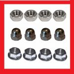 Metric Fine M10 Nut Selection (x12) - Kawasaki KLE500
